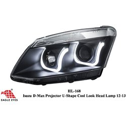 ISUZU D-MAX 2013 - 2015 EAGLE EYES U-Concept Daylight Projector Head Lamp [HL-168]