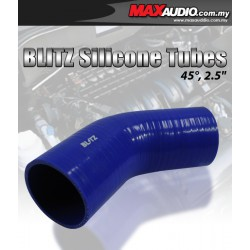 """BLITZ 45º Degree 2.5"""" Inch 3 Layer Racing Elbow Silicone Tubes"""