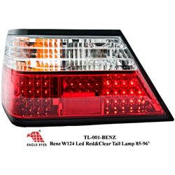 MERCEDES BENZ MASTERPIECE W124 E-Class 1885 - 1996 EAGLE EYES Clear & Red LED Tail Lamp [TL-001-BENZ]