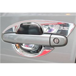 TOYOTA VIOS 2013 - 2015 4 Pcs Chrome Door Handle Inner Guard Bowl