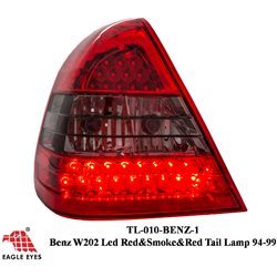 MERCEDES BENZ W202 C-Class 1994 - 1999 EAGLE EYES Red/ Smoke/ Red LED Tail Lamp [TL-010-BENZ-1]