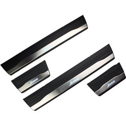 HONDA JAZZ 2014 OEM Plug & Play Stainless Steel White LED Door Side Sill Step Plate Made In Taiwan