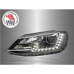 VOLKSWAGEN JETTA A6 2011 - 2017 EAGLE EYES LED DRL Projector Head Lamp [HL-150]