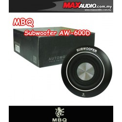 """ORIGINAL MBQ AW-600D 8"""" 100W RMS Round Underseat Subwoofer Made in Germany"""
