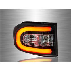 TOYOTA FJ CRUISER 2006 - 2014 Clear C-Style LED Light Bar Tail Lamp [TL-258-1]