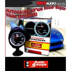 ORI AUTOGAUGE 2.5' White LED Defi Smoke Gauge Boost Meter [AG00382]
