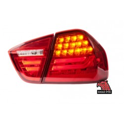 EAGLE EYES RED/PINK LED Tail Lamp: BMW 3 Series E90 [TL-022-BMW-4]