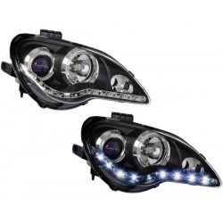 PROTON GEN2/ PERSONA EAGLE EYES Black Housing Starline LED DLR Daylight Projector Head Lamp [HL-072-3]