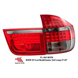BMW X5 E70 2007 - 2008 EAGLE EYES Red/Smoke LED Tail Lamp [TL-065-BMW]